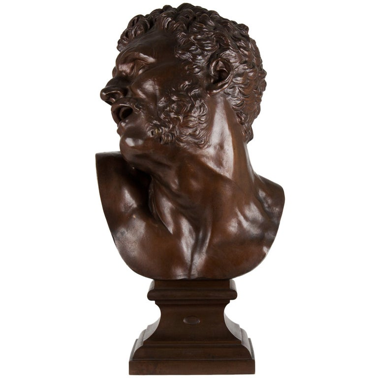 19th Century French Bronze Bust For Sale