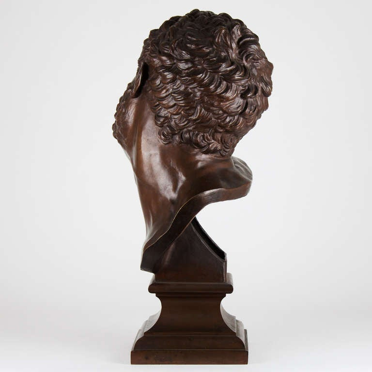 19th Century French Bronze Bust For Sale 2