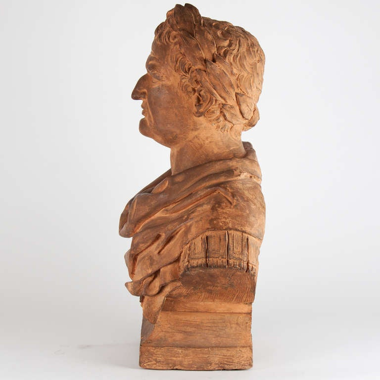 17th Century Italian Terracotta Bust In Good Condition For Sale In Esbeek, NL