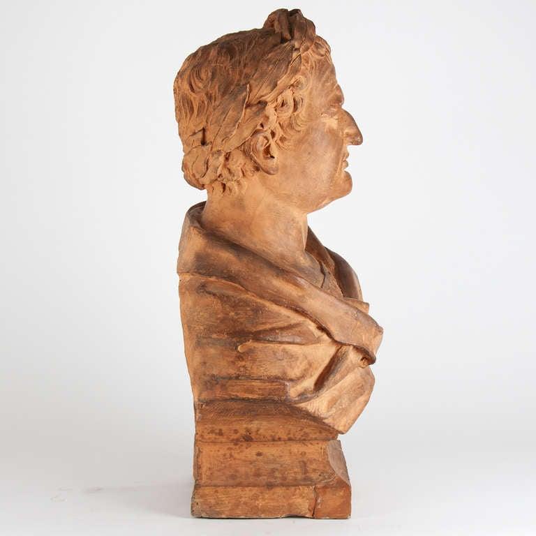 17th Century Italian Terracotta Bust For Sale 1