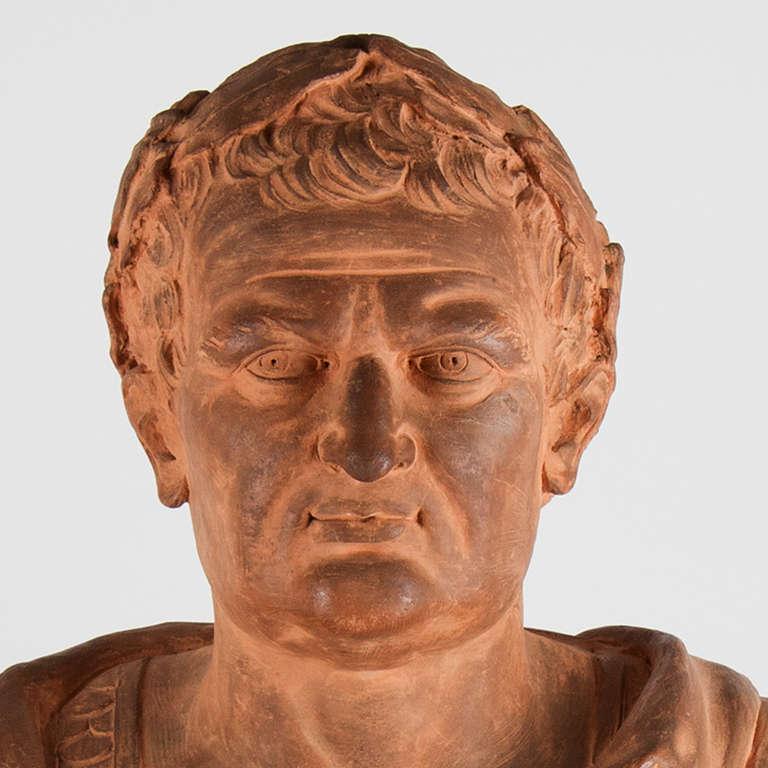 17th Century Italian Terracotta Bust For Sale 2