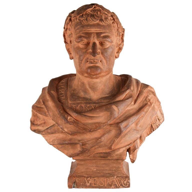 17th Century Italian Terracotta Bust For Sale