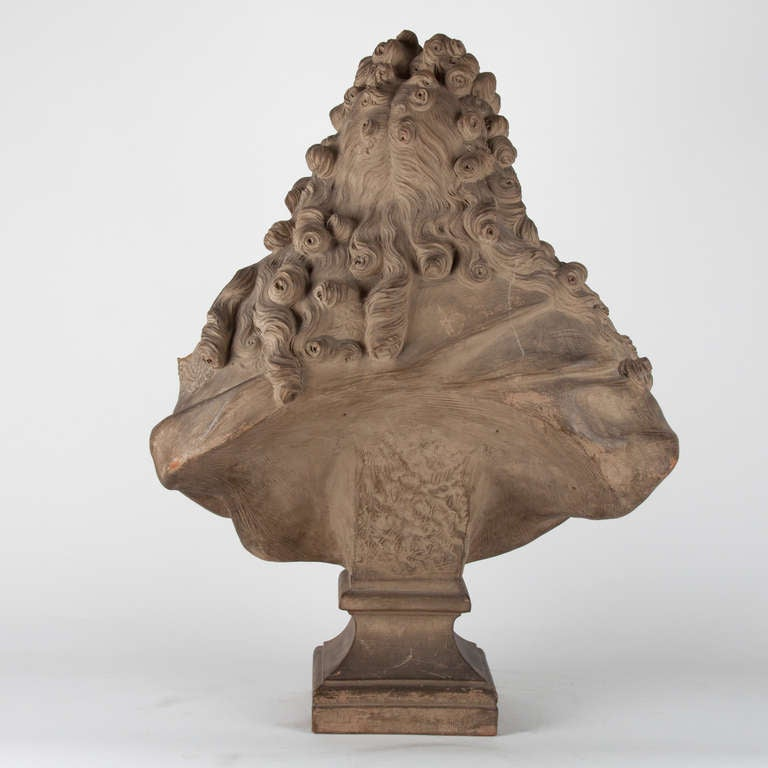 Terracotta 19th Century French Terra Cotta Bust For Sale