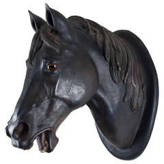 19th Century Patinated Terracotta Horse Head
