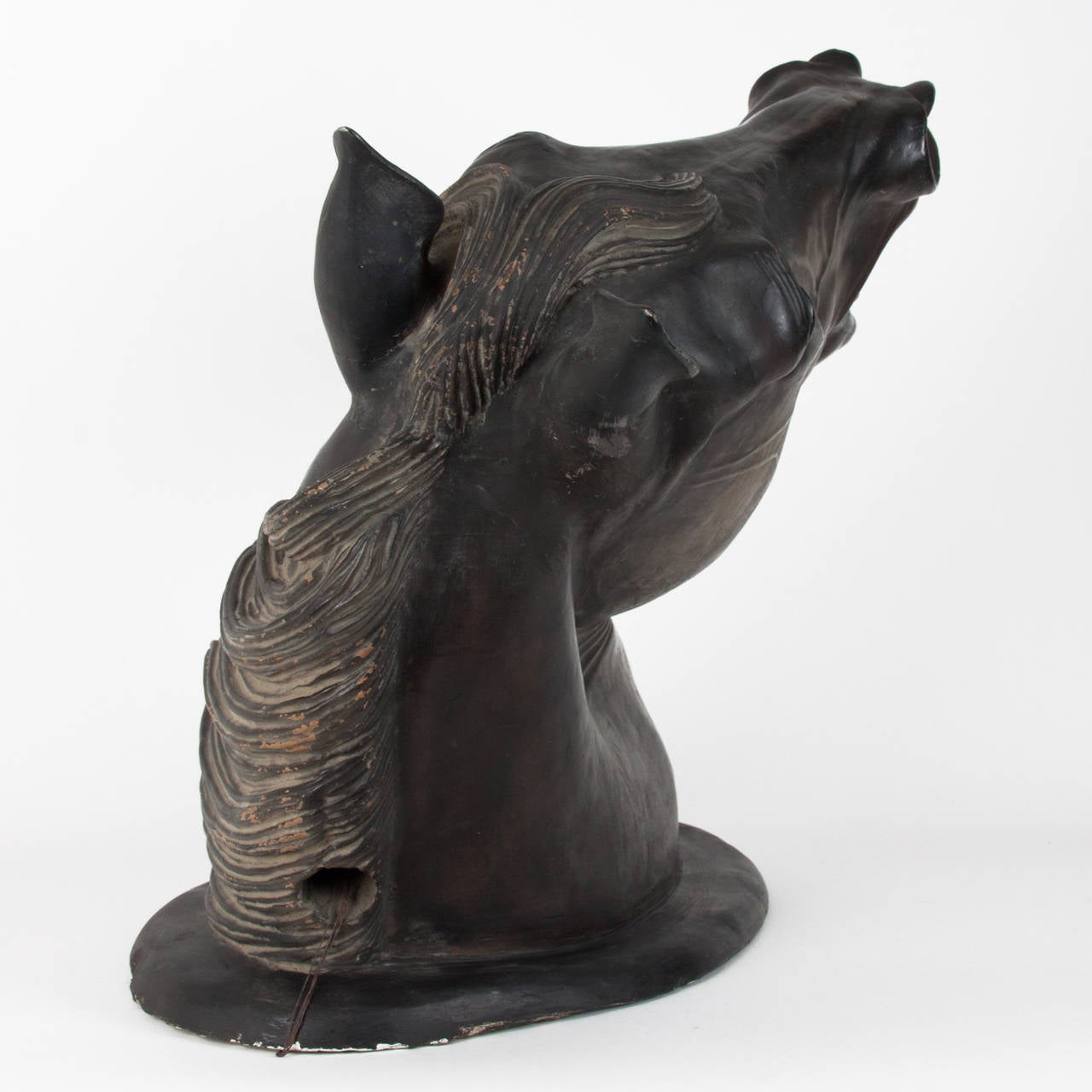 19th Century Patinated Terracotta Horse Head For Sale 1