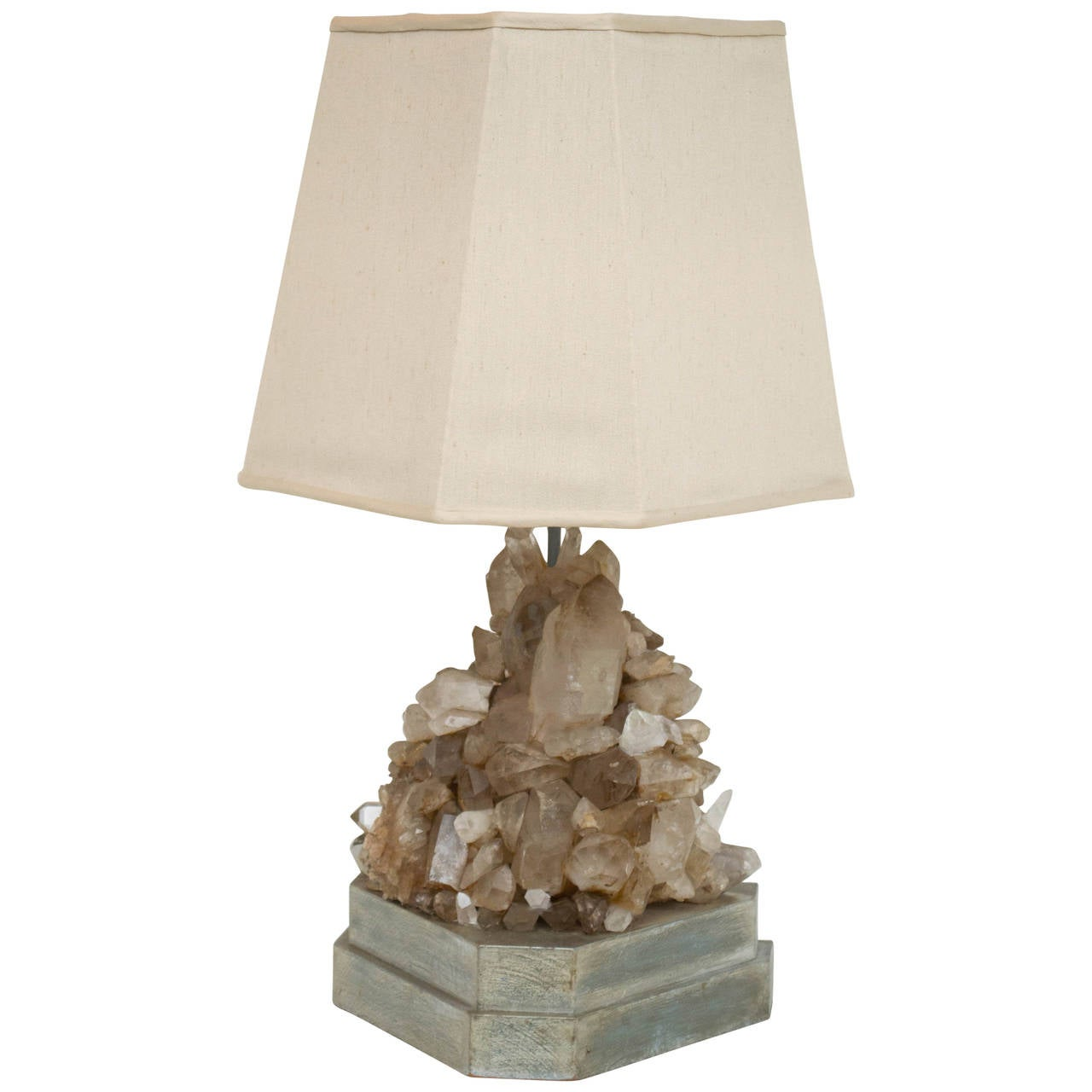Carole stupell rock crystal lamp for sale at 1stdibs for Rock lamp