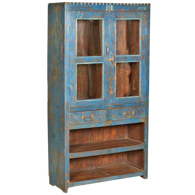 Painted Burmese Teak Cabinet At 1stdibs