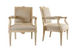 Pair of Gustavian Style Fauteuils