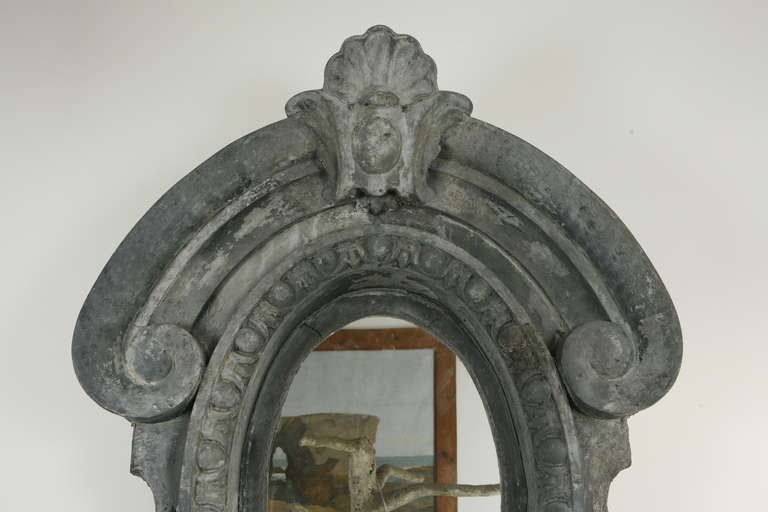 Pair of Architectural Dormer Mirrors In Good Condition In Los Angeles, CA