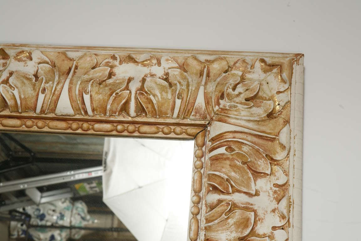 Napoleon III Gesso and Wood Mirror 3