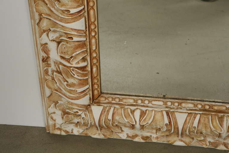 Napoleon III Gesso and Wood Mirror 4