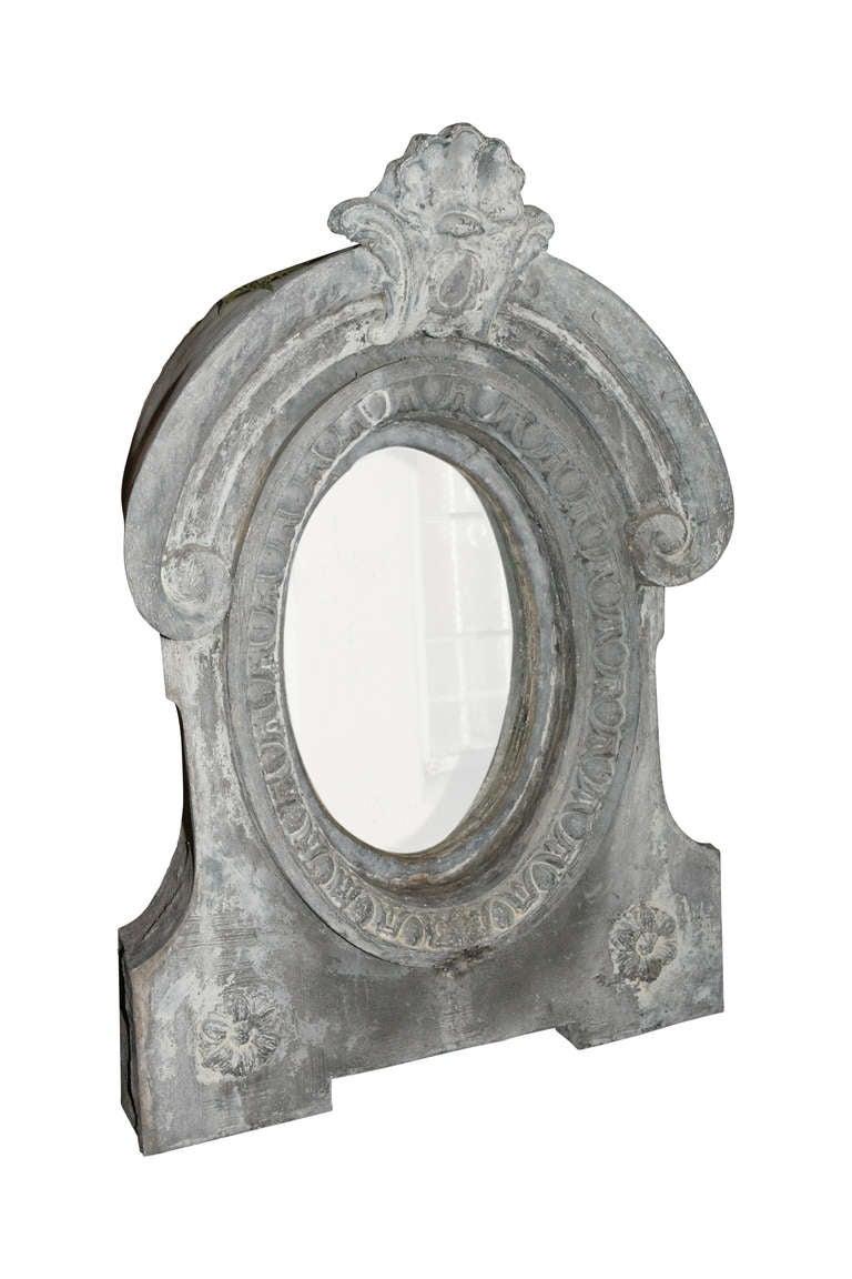 Zinc Pair of Architectural Dormer Mirrors