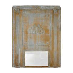 19th c. French Wood Trumeau Mirror