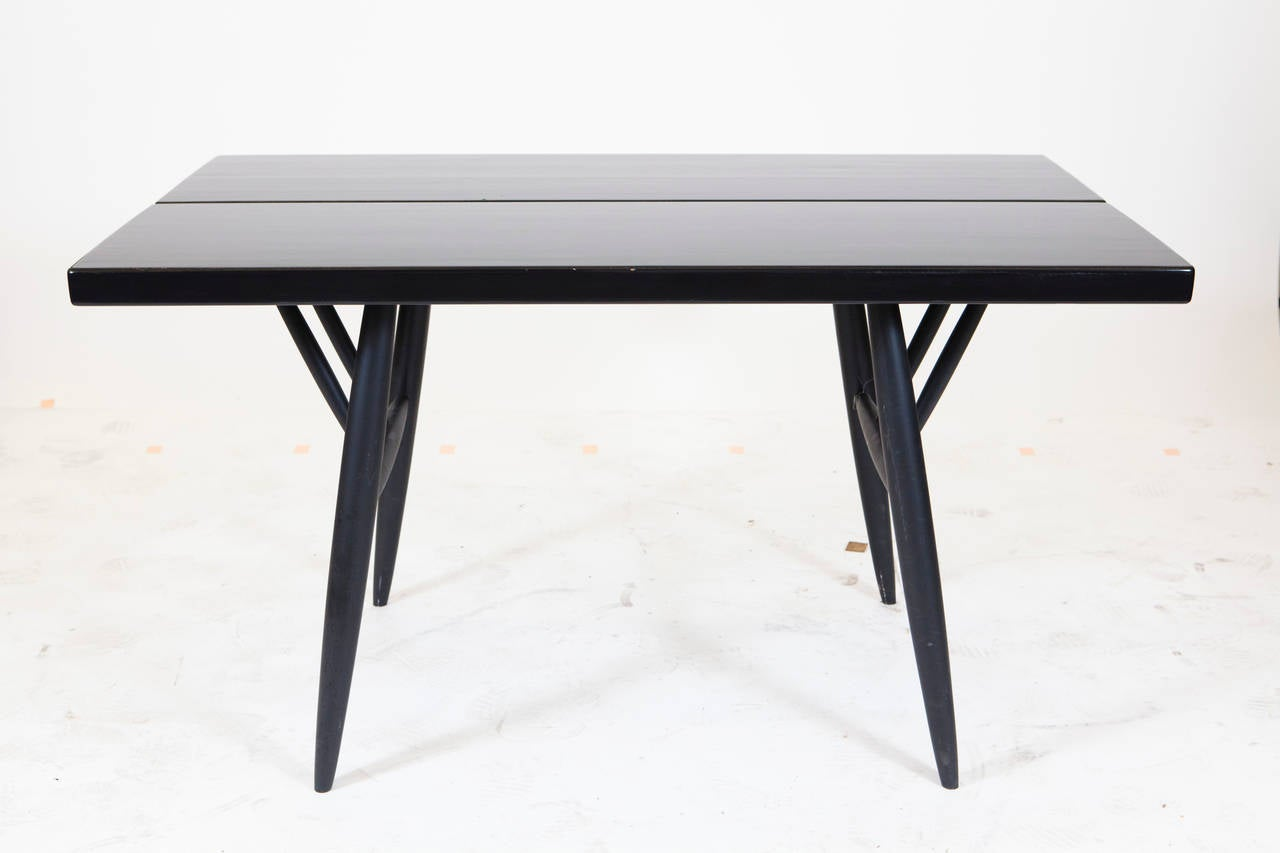 Pirkka Table and Chairs by Ilmari Taplovaara In Excellent Condition For Sale In Los Angeles, CA