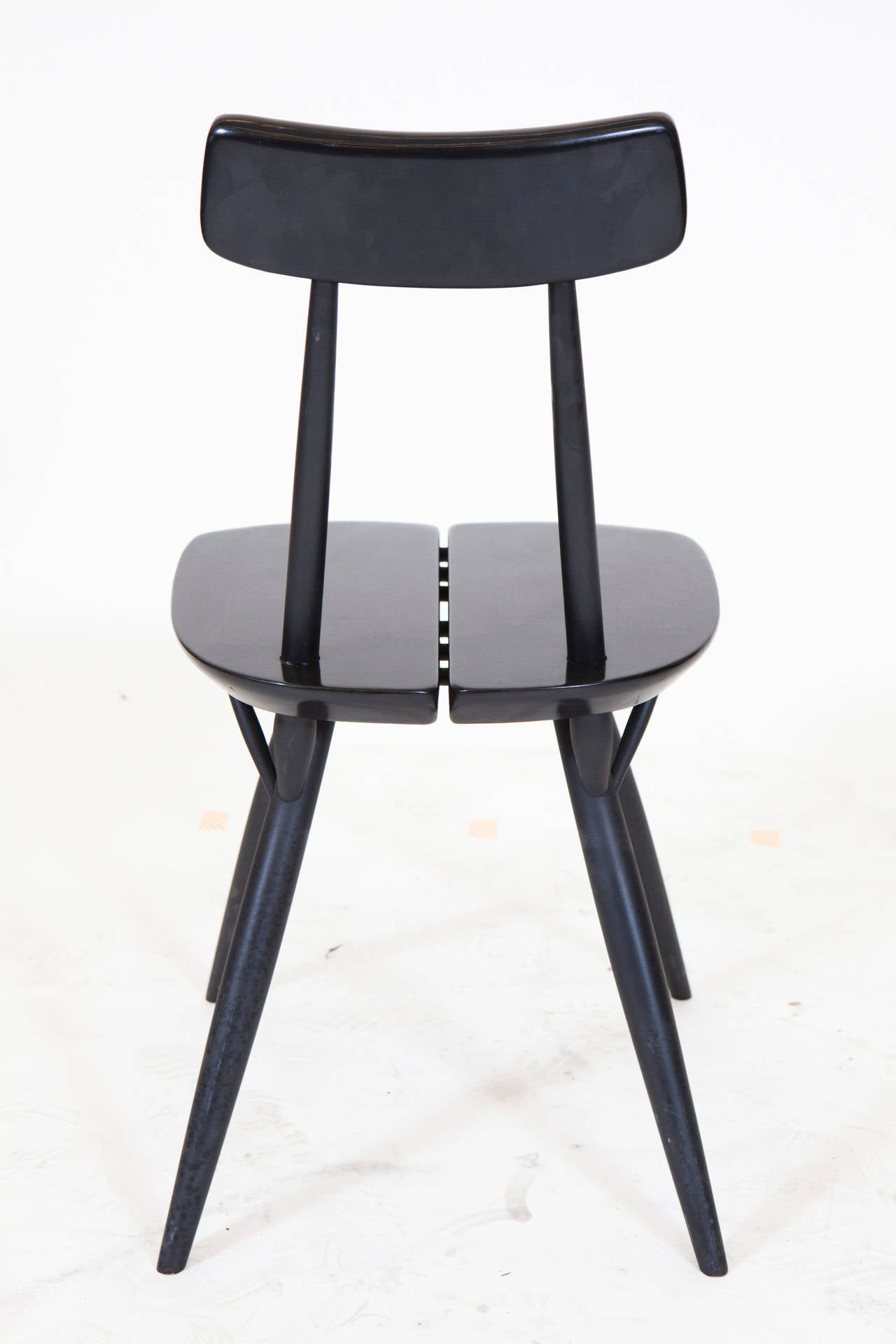 Lacquer Pirkka Table and Chairs by Ilmari Taplovaara For Sale