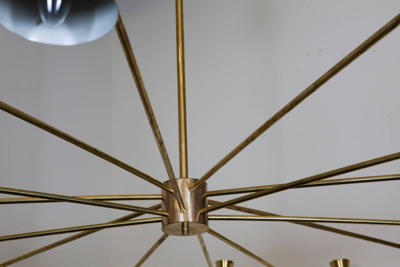 Large Brass Ceiling Light 2