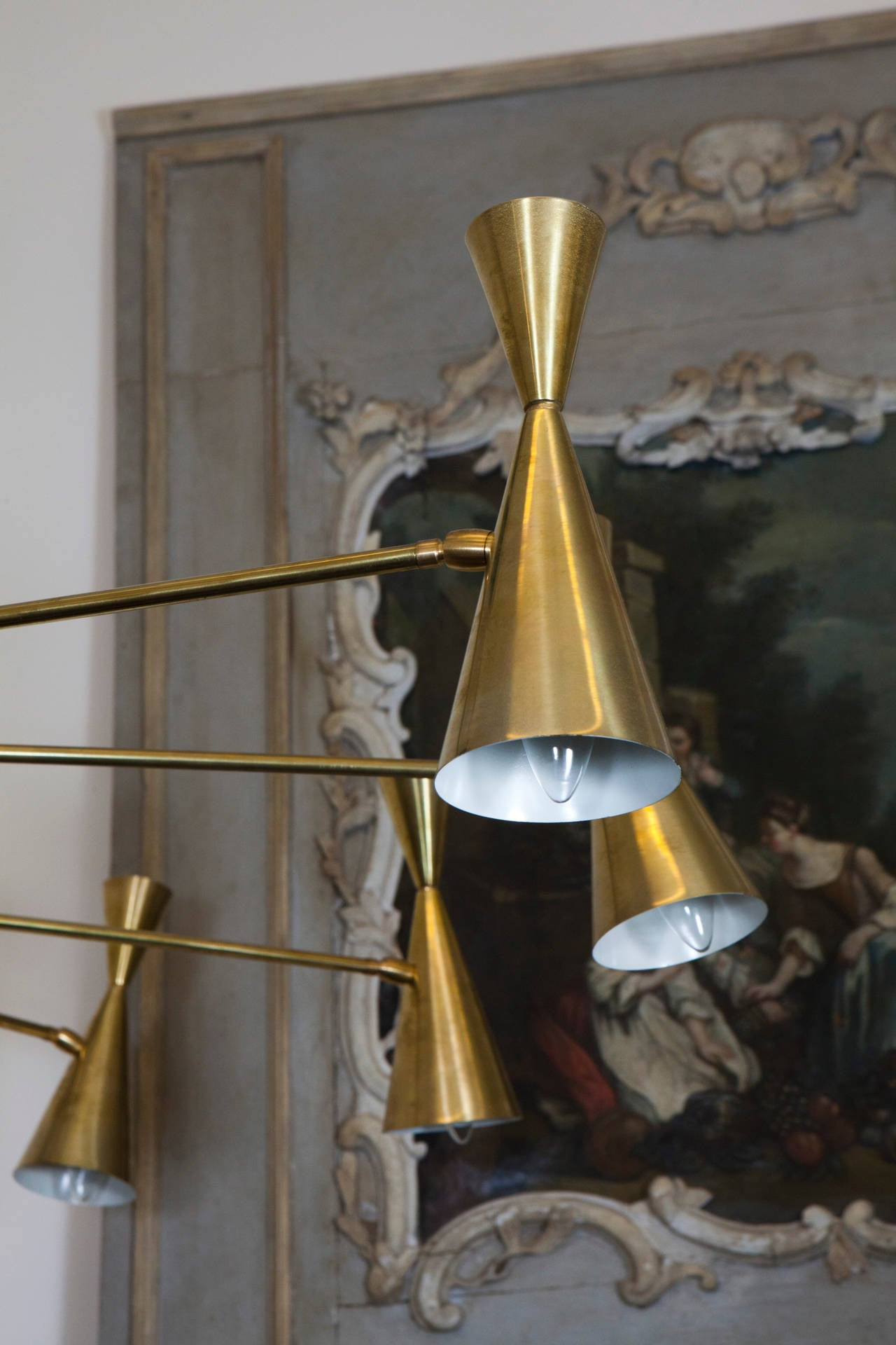 Large Brass Ceiling Light 4
