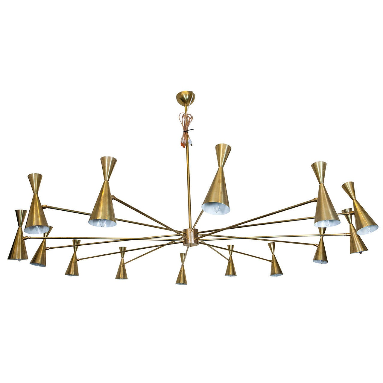 Large Brass Ceiling Light 1