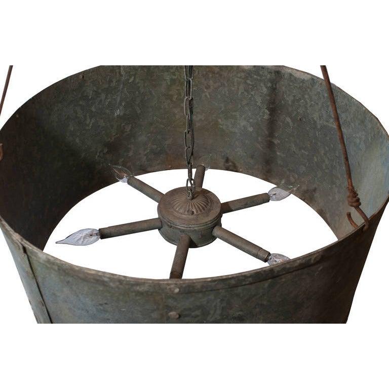 Zinc Round Drum Chandelier 2