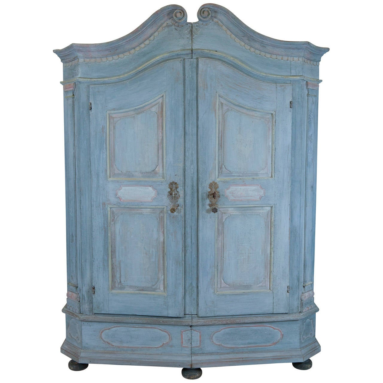 french blue armoire for sale at 1stdibs. Black Bedroom Furniture Sets. Home Design Ideas