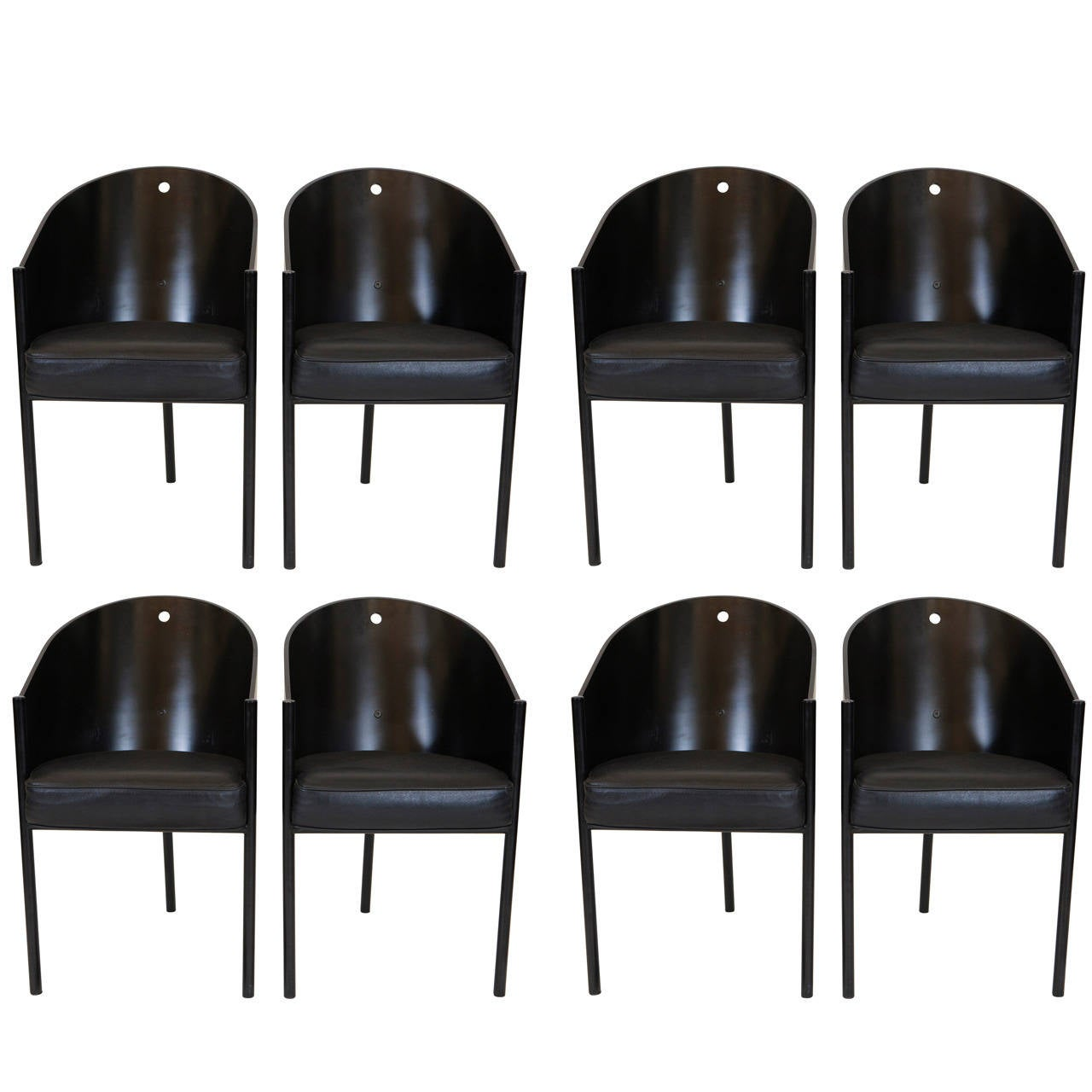 "Set of Eight Philippe Starck ""Costes"" Chairs 1"