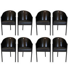 """Set of Eight Philippe Starck """"Costes"""" Chairs"""