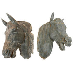 Pair of 19th Century French Tetes de Cheval