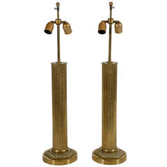 Pair of America Brass Table Lamps