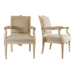 Pair of Gustavian Style Fauteuils