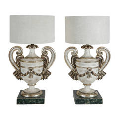 Pair of Wood Table Lamps