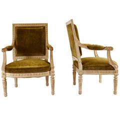Louis XV Style Fauteuils Modeled after Marie Antoinette Furniture