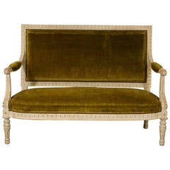 Louis XVI Style Sofa Modeled after Marie Antoinette Furniture