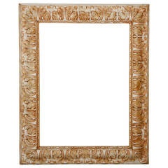 Napoleon III Gesso and Wood Mirror