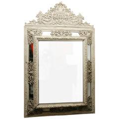 White Painted Metal Mirror