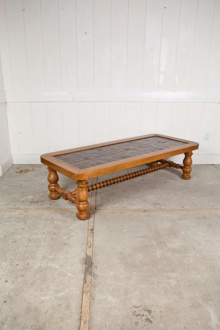 Wyoming Coffee Table With Copper Top At 1stdibs