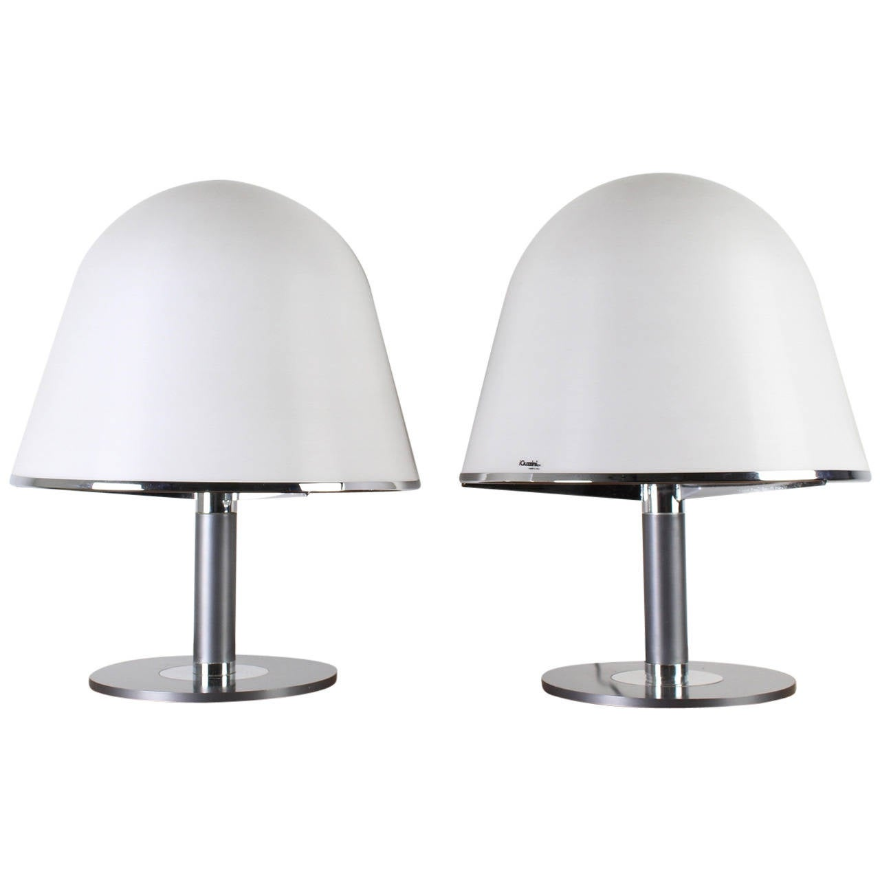 Set Of Two Table Lamps Set Of Two Mushroom Iguzzini Table Lamps By Harvey Guzzini For