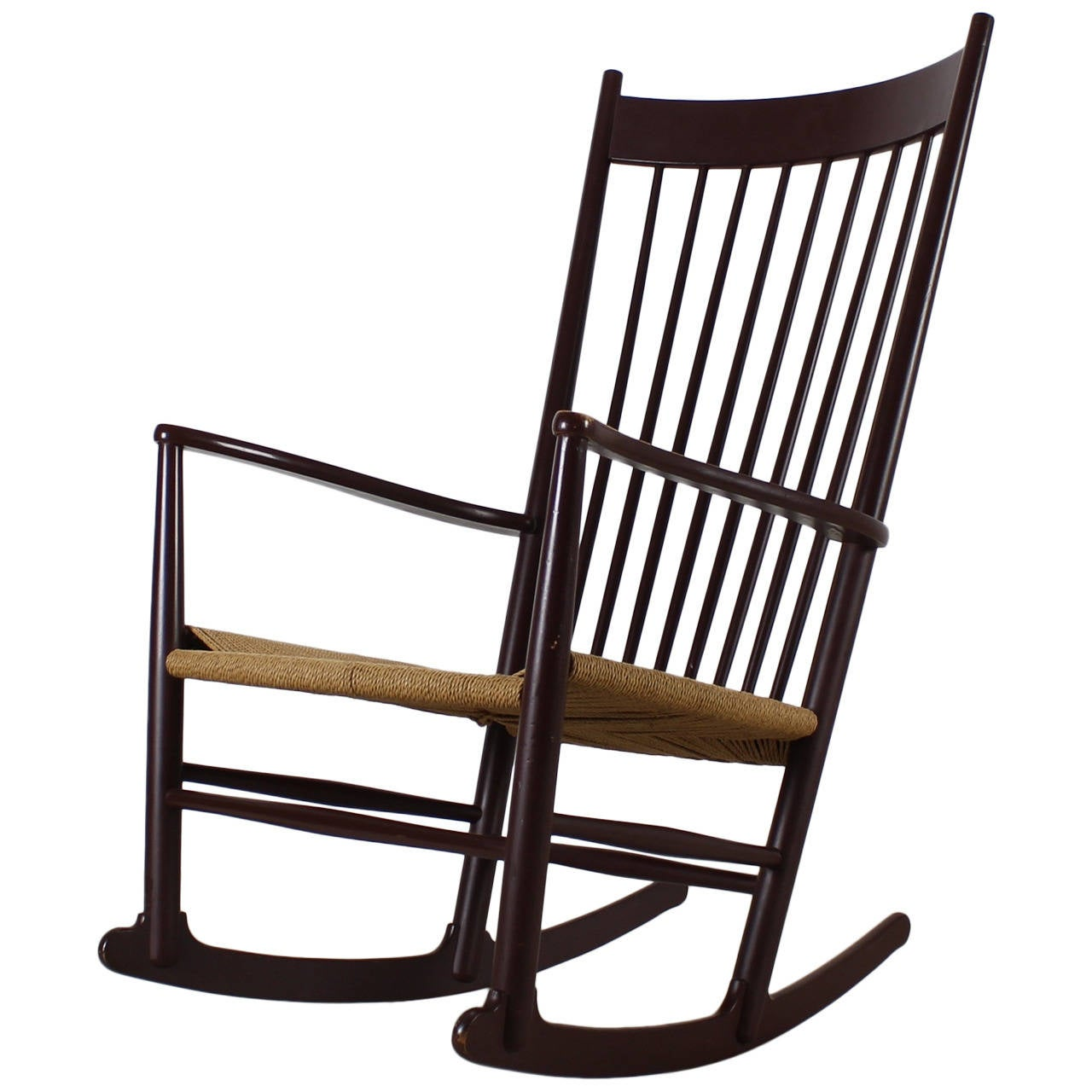Hans Wegner Rocking Chair For FDB Møbler Denmark At 1stdibs. Full resolution‎  portraiture, nominally Width 1280 Height 1280 pixels, portraiture with #896842.