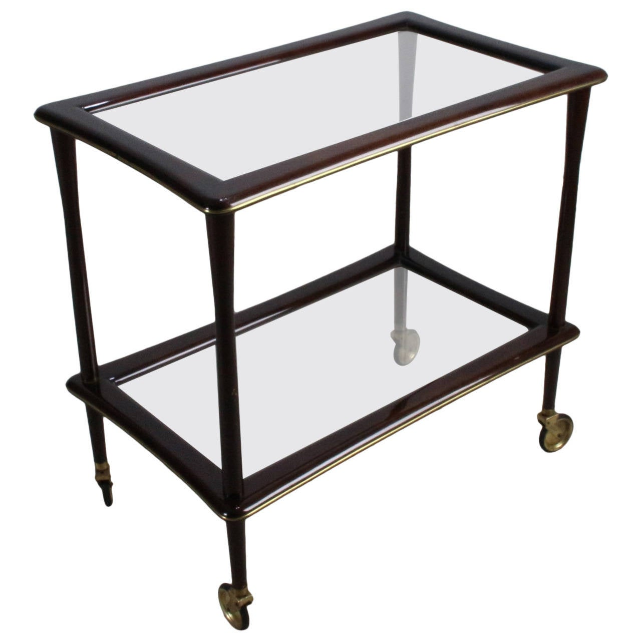 Italian lacca style tea trolley cart with brass lining for sale at italian lacca style tea trolley cart with brass lining 1 geotapseo Choice Image