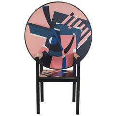 Alessandro Mendini Limited Zabro Chair Table for Zanotta, Italy