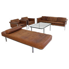 Superb Cognac Leather Living Room Set by Horst Bruning for Kill International