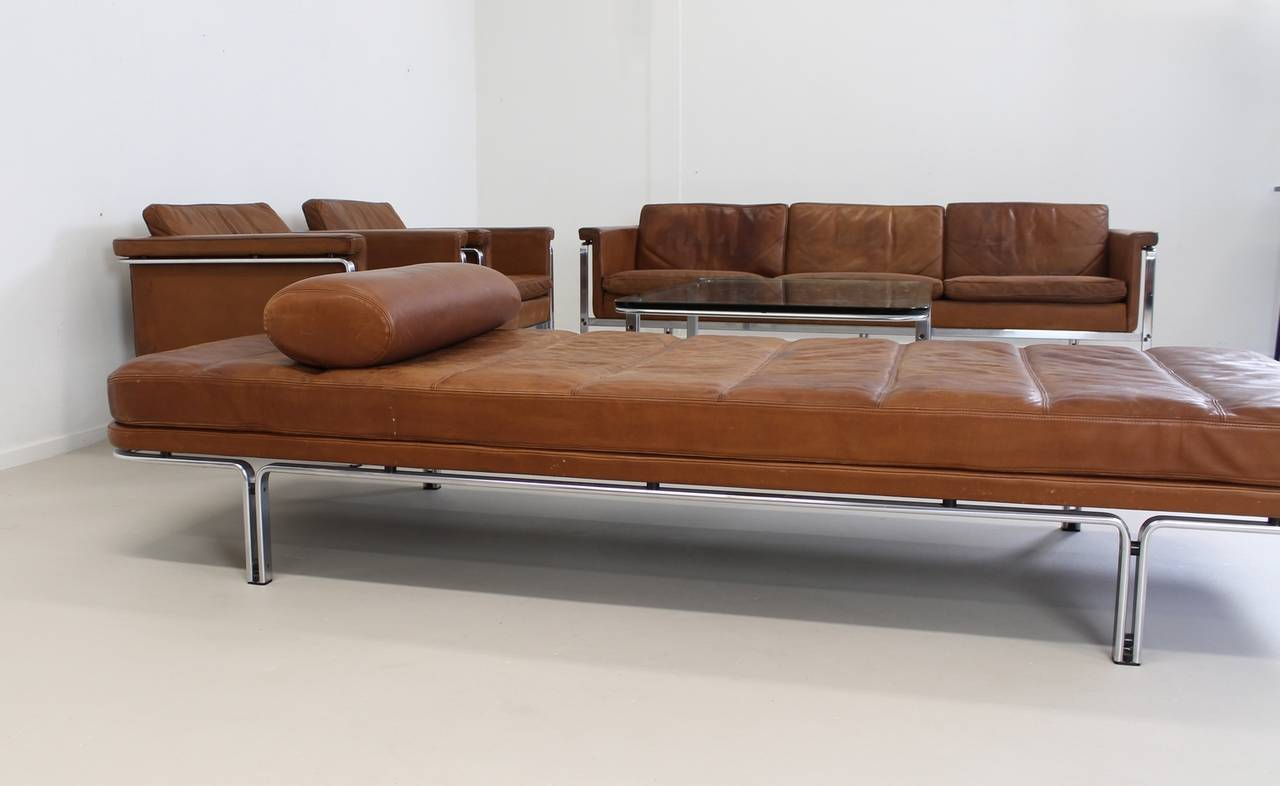 Superb Cognac Leather Living Room Set By Horst Bruning For Kill International At 1stdibs