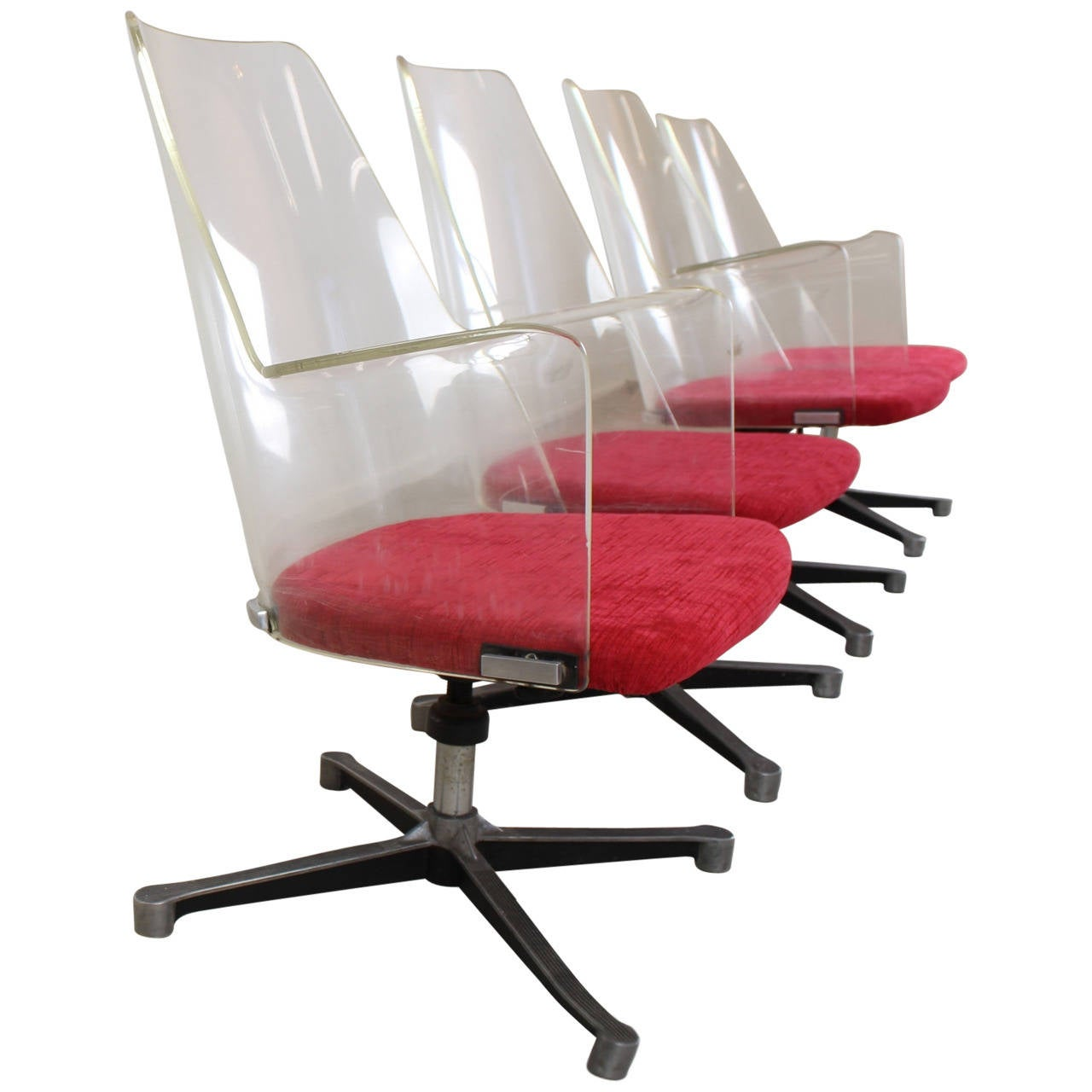 original authentic american lucite office chairs for sale