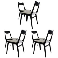 Extra Ordinary Set Of Six Danish Design Boomerang Dinner Chairs