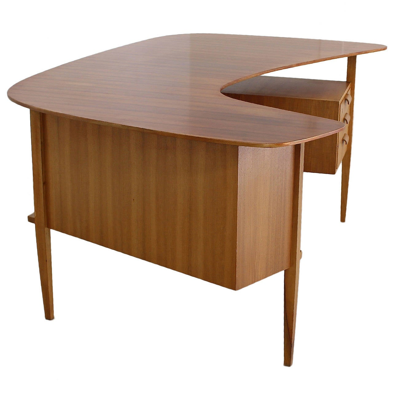 custom standing desk kidney shaped mid. 1950s german design kidney shaped large desk by hans hartl 1 custom standing mid p