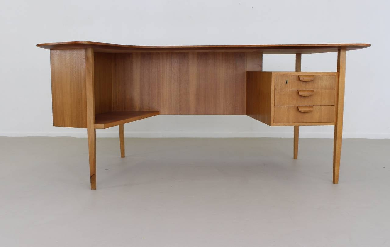 custom standing desk kidney shaped mid. 1950s german design kidney shaped large desk by hans hartl 2 custom standing mid