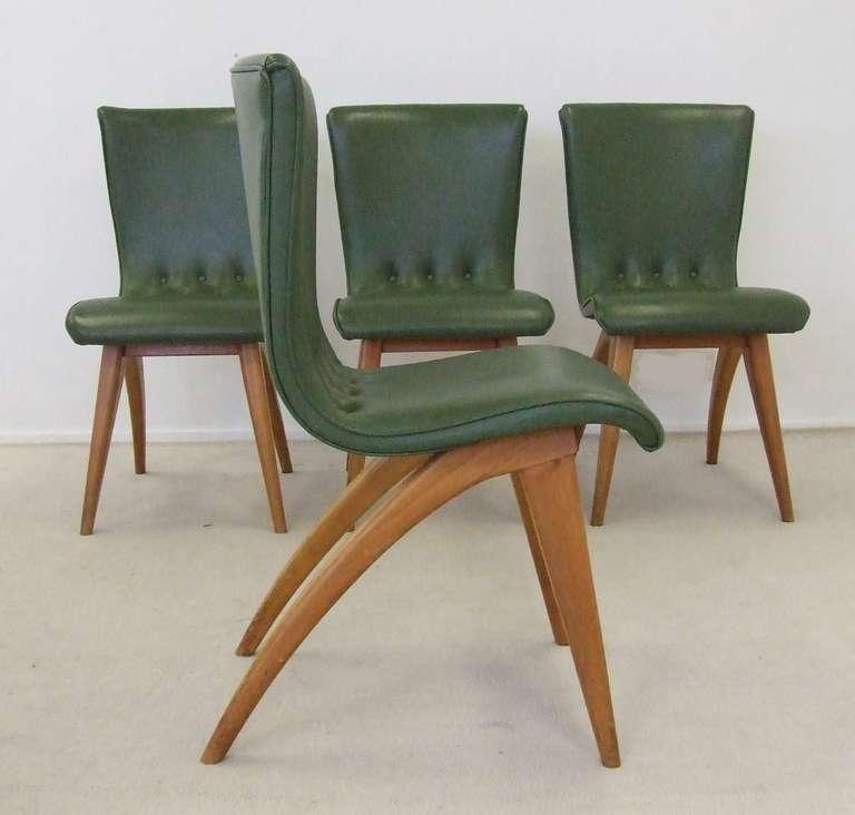 Dutch design organic dining chairs by van os 1950s at 1stdibs for Dutch design chair karton