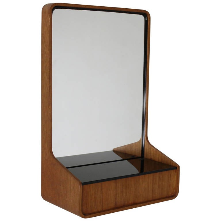 Small Wall Mirror With Storage By Friso Kramer For Auping