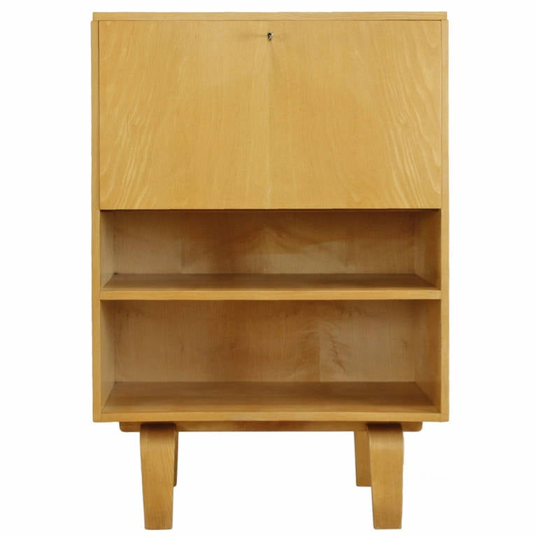 Small cabinet with desk flap by w lutjens for gouda den