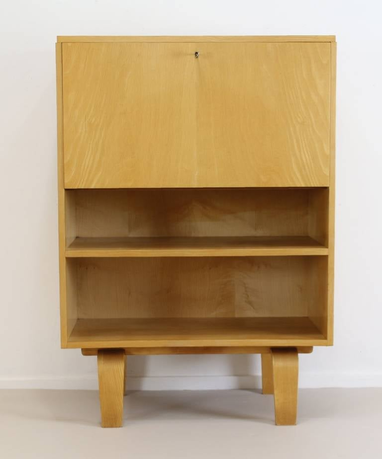 Wooden Den Cabinets ~ Small cabinet with desk flap by w lutjens for gouda den