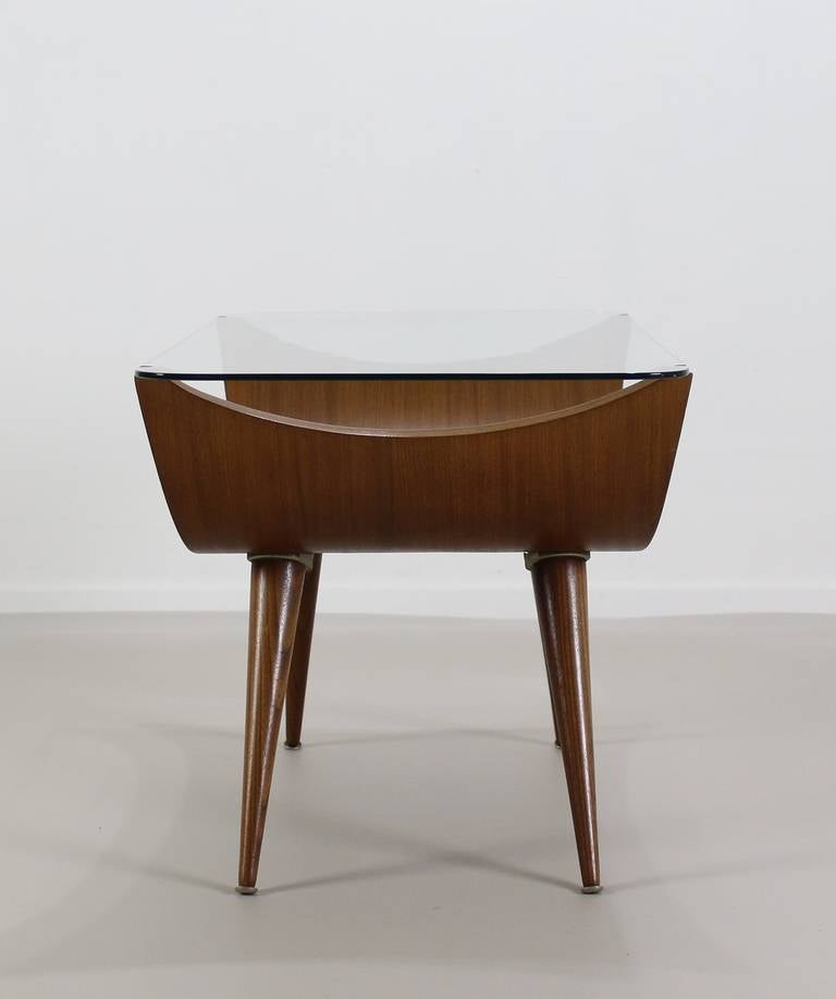 Stunning Dutch Design Bentwood Coffeetable With Special Glass Top At 1stdibs